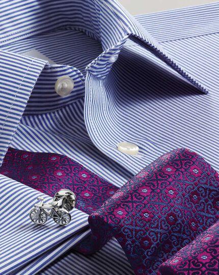 Magenta silk English luxury geometric tie