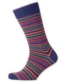 Navy multi stripe socks