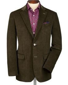Olive classic fit cord unstructured jacket