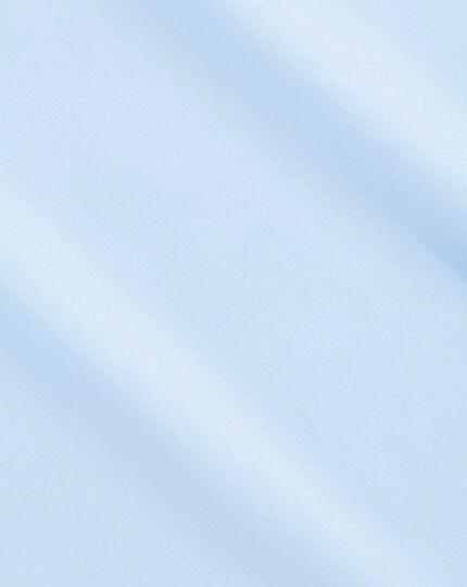 Classic fit non-iron poplin sky blue shirt