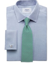 Slim fit non iron imperial weave blue shirt