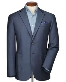 Classic fit blue and sky semi-plain jacket