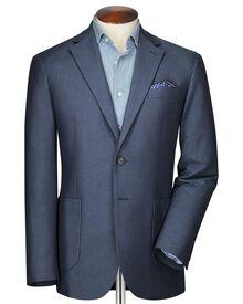 Classic Fit Faux-Uni Sakko in blau und himmelblau