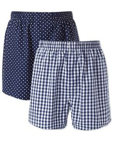 Navy 2 pack boxer shorts