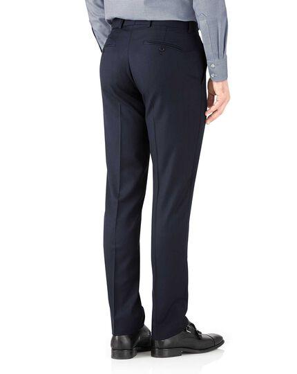 Navy herringbone slim fit Italian suit pants