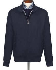 Harrington-Jacke Molton-Stoff marineblau
