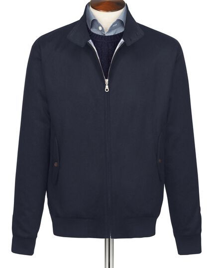 Dark navy Melton Harrington jacket
