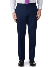 Navy slim fit Italian cotton business suit pants