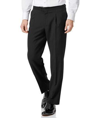 Pantalon de costume de soirée noir coupe droite