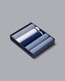 5 blue handkerchiefs