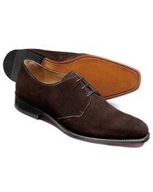 Soho Derby-Schuh aus Veloursleder in braun