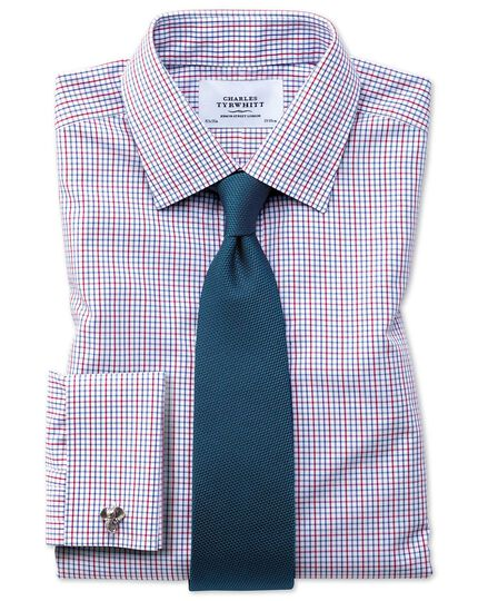Slim fit non-iron multi grid check shirt