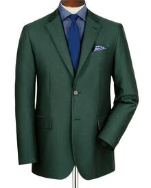 Green classic fit Oxford unstructured jacket