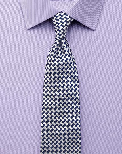 Slim fit Egyptian cotton cavalry twill lilac shirt