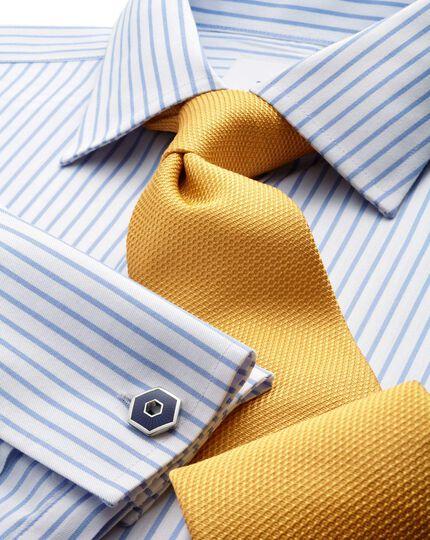 Gold silk classic plain tie
