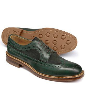 Lanescot Budapester Derby Schuh mit Flügelkappen in Grün
