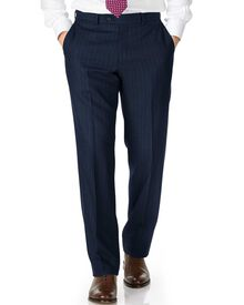 Navy classic fit saxony business suit pants