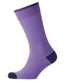 Lilac ribbed socks