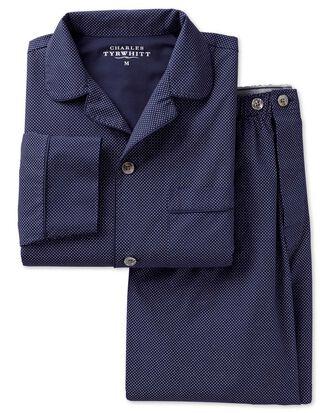 Navy dot cotton pyjama set