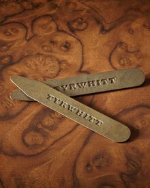 Solid brass cut away collar stays