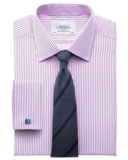 Extra slim fit bengal stripe lilac shirt
