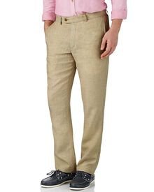 Stone slim fit linen pants