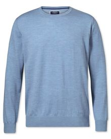 Sky merino wool crew neck sweater