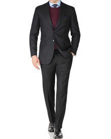 Charcoal slim fit British serge luxury suit