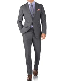Silver slim fit summer business suit