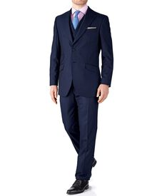Navy slim fit British Panama luxury suit