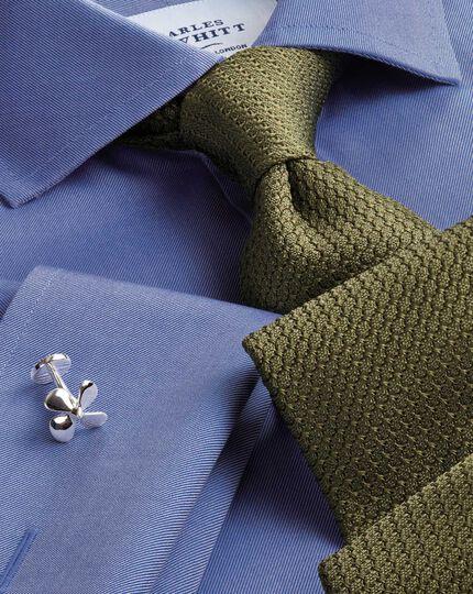 Khaki silk plain grenadine Italian luxury tie