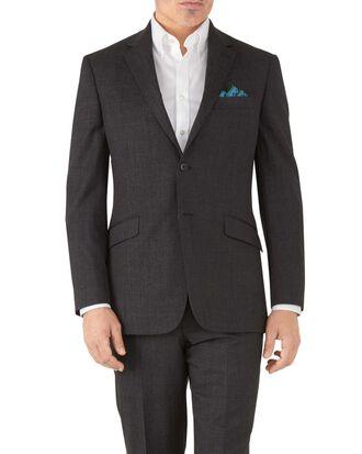 Classic Fit Business Anzug Sakko aus Hairline in Anthrazit