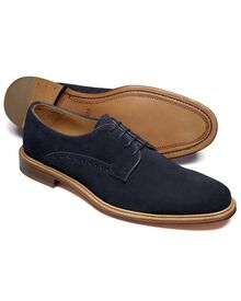 Navy Lambourne suede Derby shoes