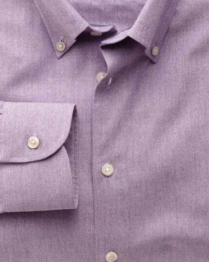 Extra slim fit button-down collar business casual berry shirt