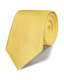 Lemon silk classic plain tie