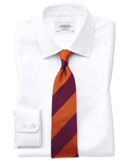Extra slim fit Egyptian cotton royal Oxford white shirt