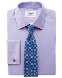 Slim fit Oxford lilac shirt