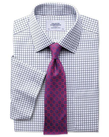 Classic fit non-iron short sleeve indigo shirt