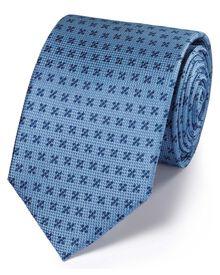 Sky silk indigo classic tie