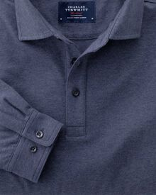 Classic fit Indigo long sleeve polo