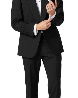 Black classic fit shawl collar tuxedo suit