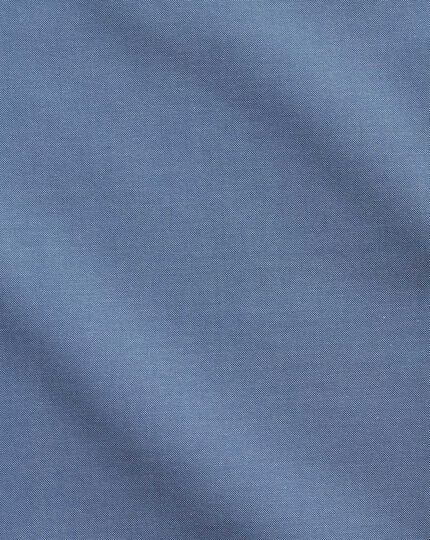 Classic fit button-down collar non-iron business casual mid blue shirt