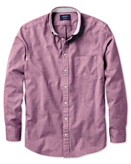 Extra Slim Fit Oxfordhemd in beerenrot
