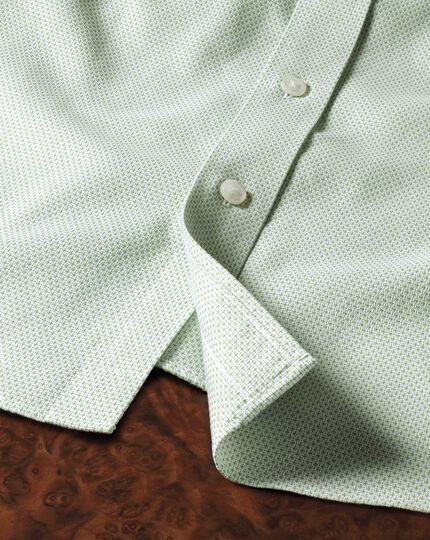 Classic fit non-iron imperial weave light green shirt
