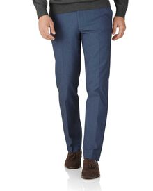 Indigo slim fit stretch cavalry twill pants