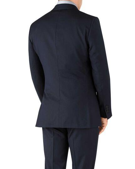 Slim Fit italienisches Anzug Sakko in Marineblau mit Fischgrätmuster