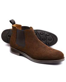 Stratton Chelsea-Stiefel aus Veloursleder in braun