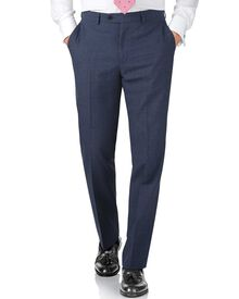 Airforce blue puppytooth classic fit Panama business suit trouser