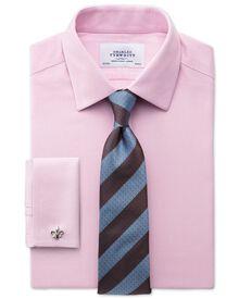 Slim fit non-iron honeycomb pink shirt