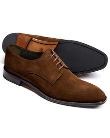 Brown Grosvenor suede Derby shoes